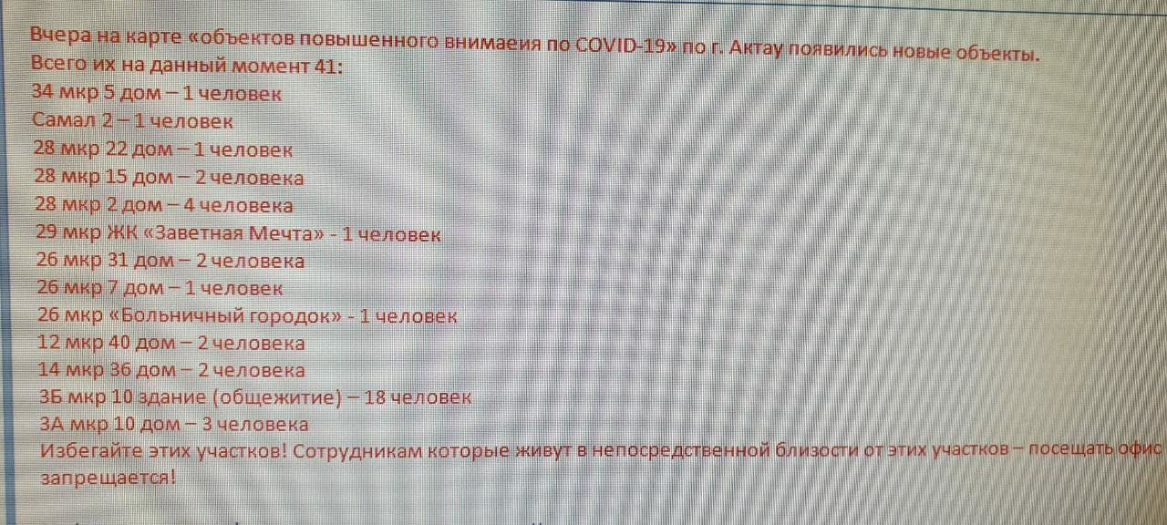 Очередной пугающий фейк рассылают жители Актау друг другу о коронавирусе, фото-1