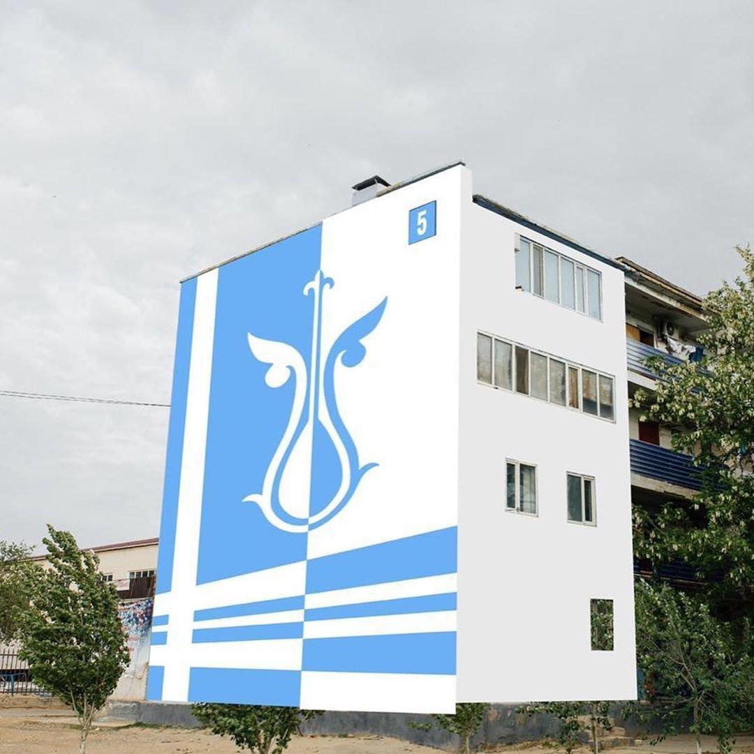 В Жанаозене раскрашивают дома в яркие цвета, фото-3