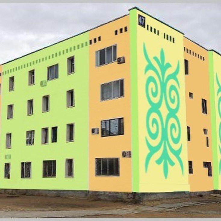 В Жанаозене раскрашивают дома в яркие цвета, фото-2