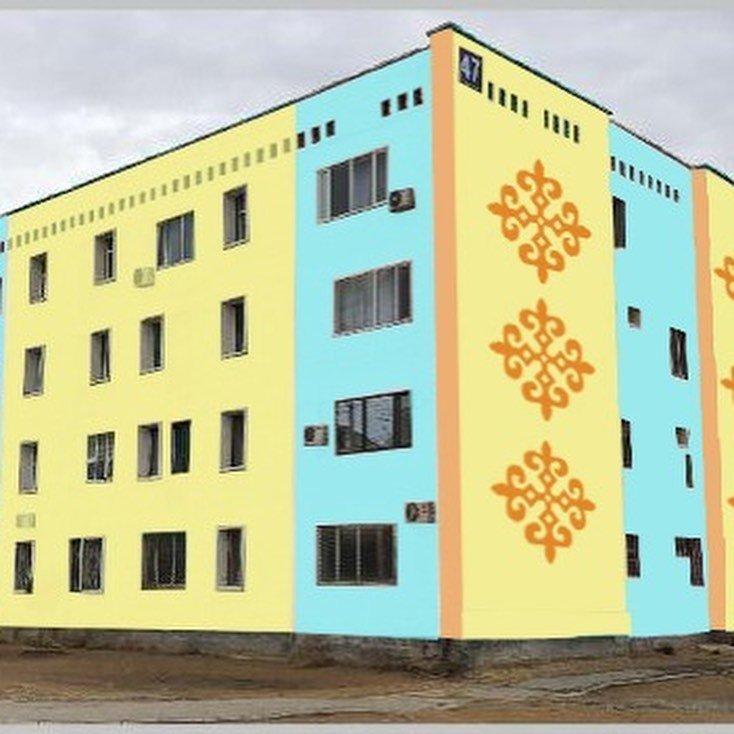 В Жанаозене раскрашивают дома в яркие цвета, фото-4