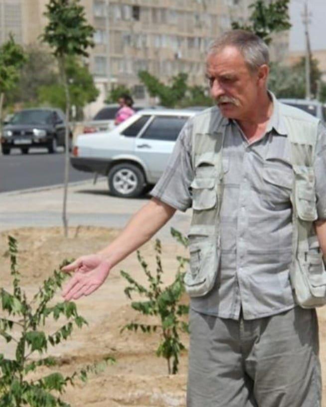 Специалист по озеленению Владимир Лукшонис будет спасать деревья в Актау, фото-1