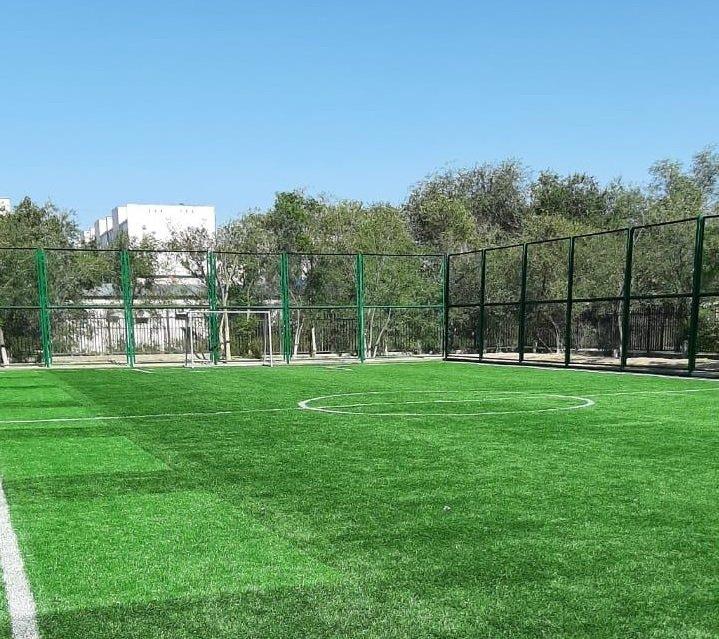 Актауские выпускники подарили своей школе спортивную площадку, фото-1