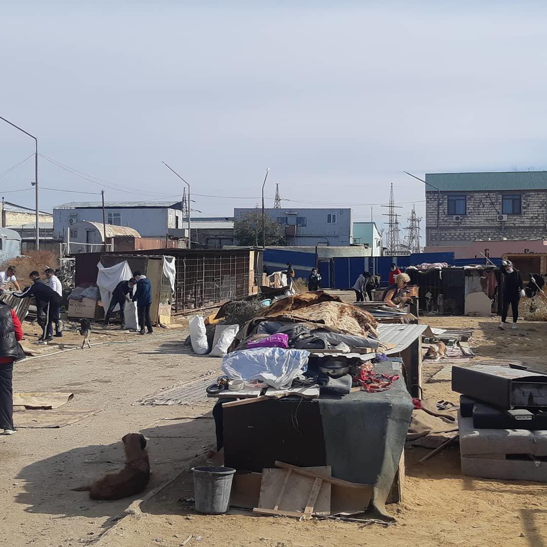 """В Актау волонтеры вывезли два """"КАМАЗа"""" с мусором из Центра временной передержки животных, фото-1"""