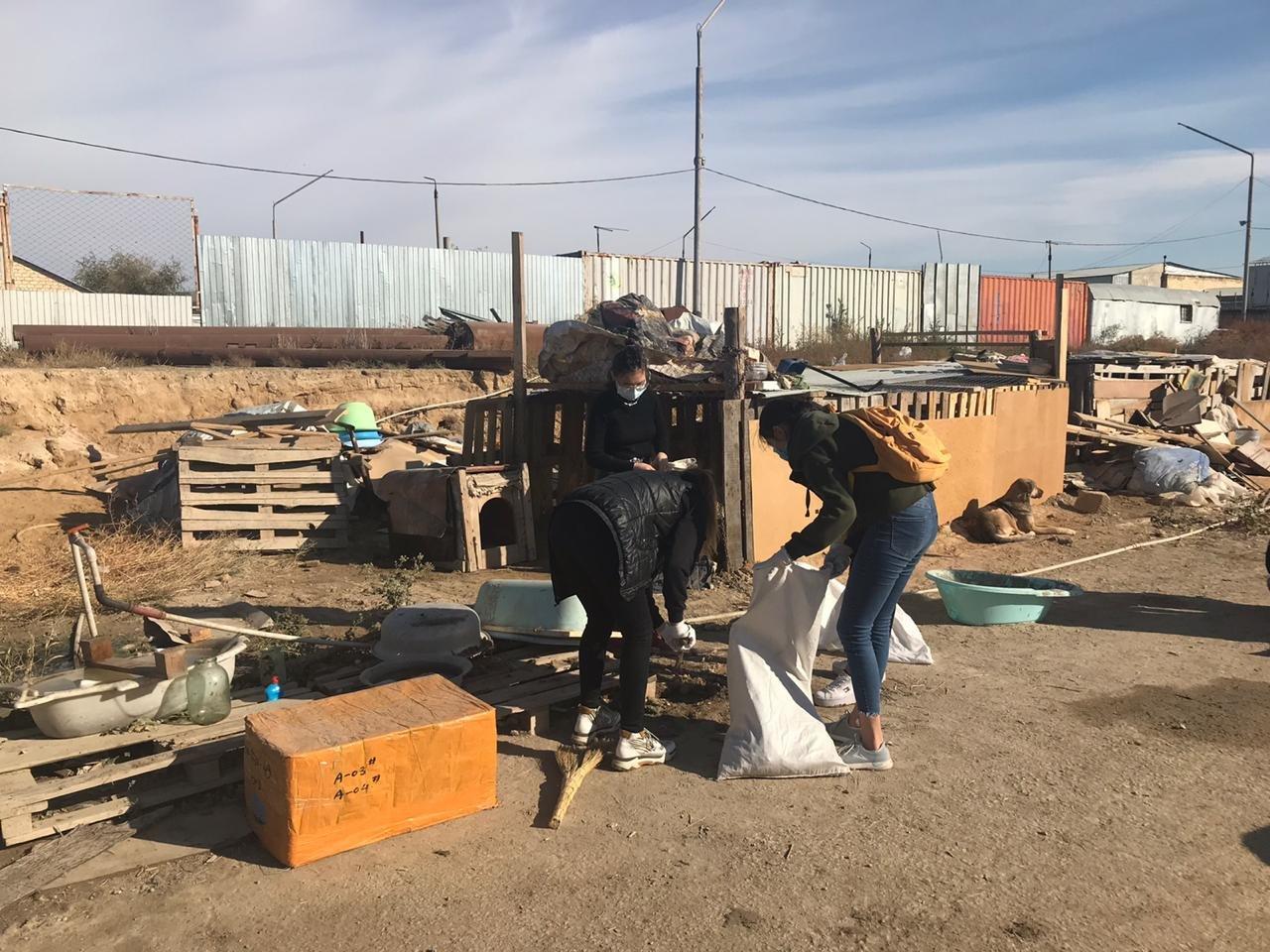 """В Актау волонтеры вывезли два """"КАМАЗа"""" с мусором из Центра временной передержки животных, фото-6"""