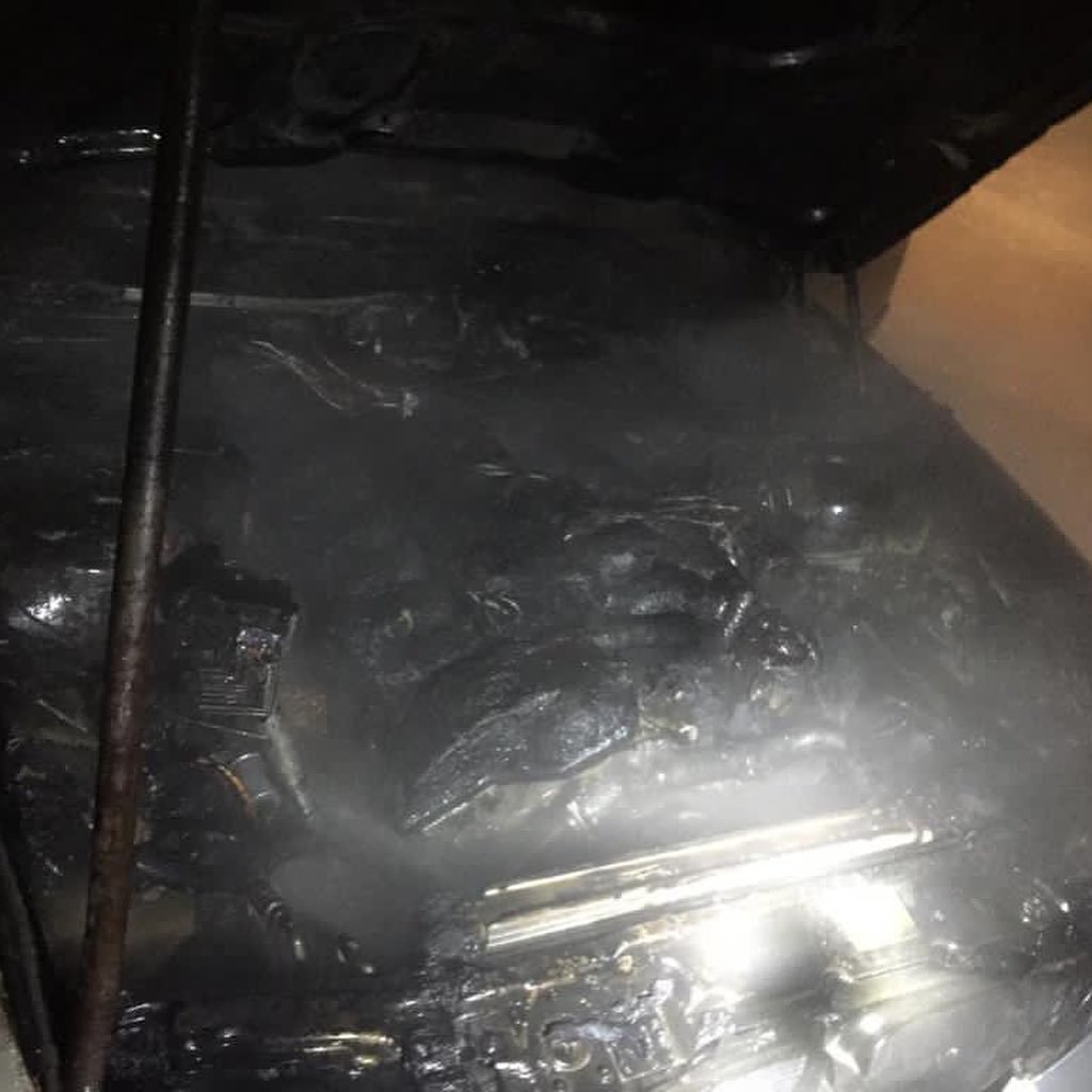 Сгоревший BMW