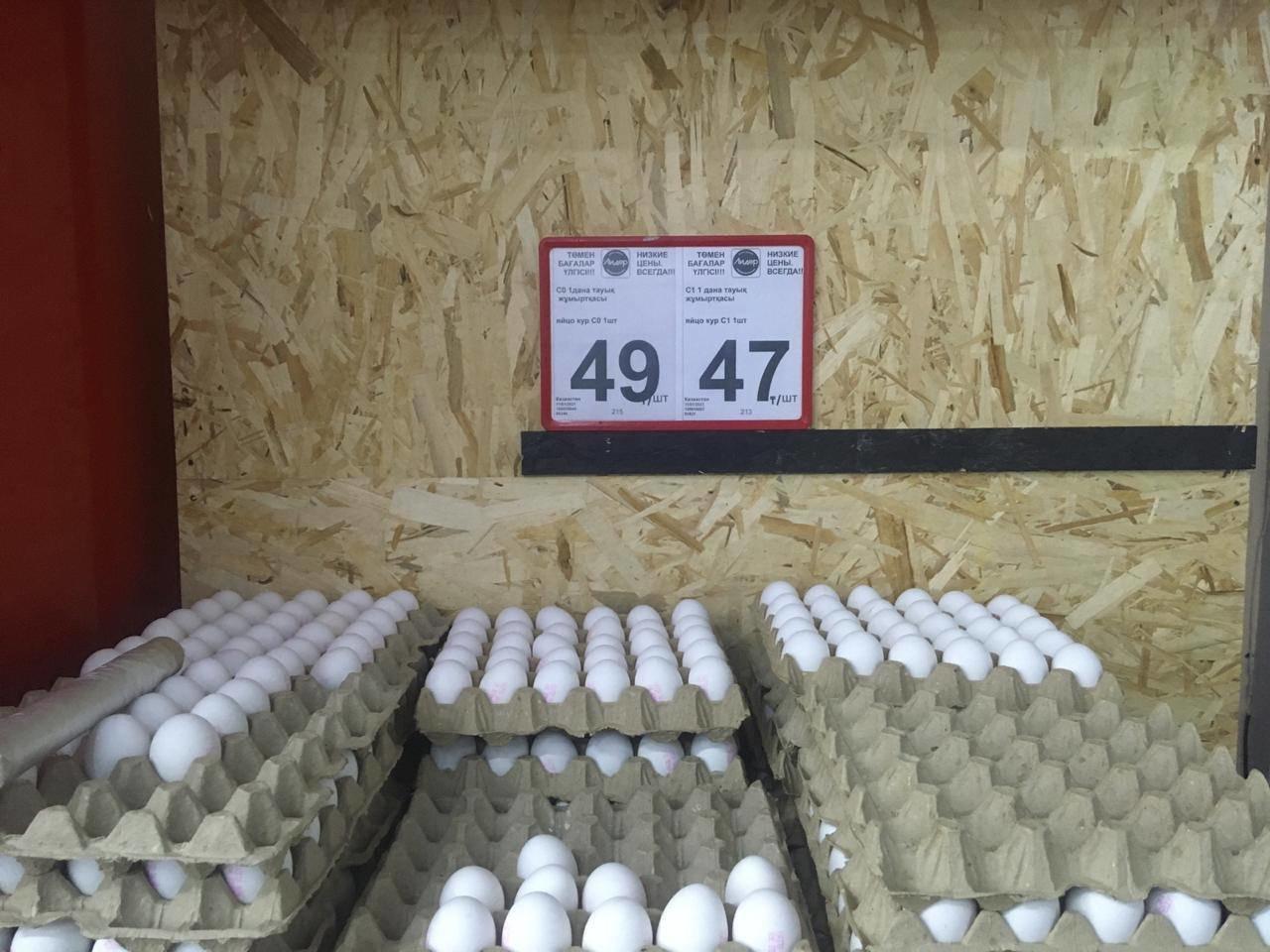 Стоимость куриных яиц в Актау на 12 января