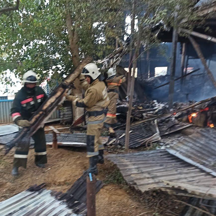 Пожар на месторождении Боранколь. Фото с места происшествия, фото-1