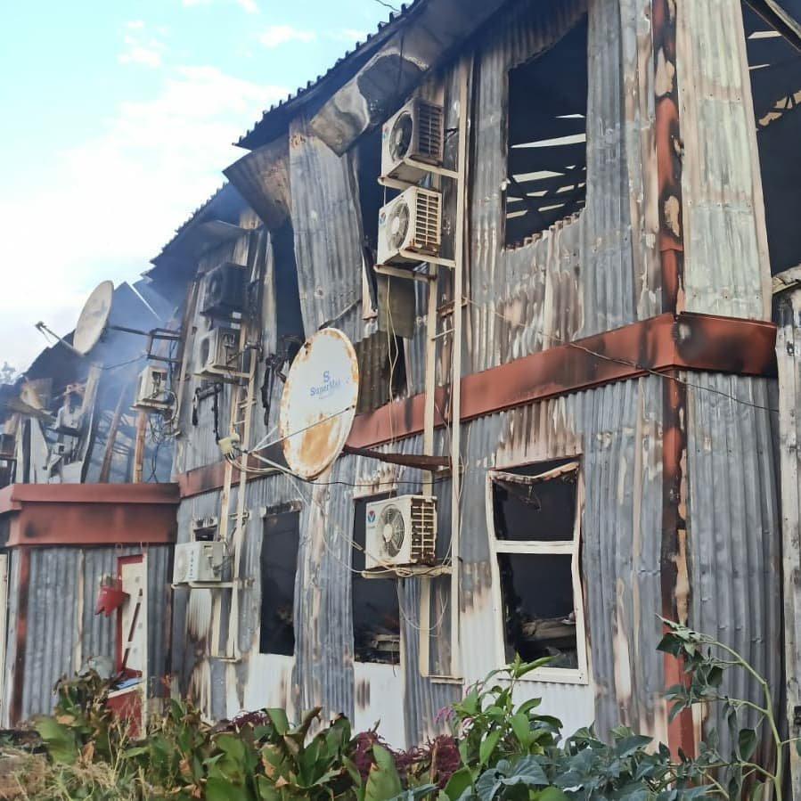 Пожар на месторождении Боранколь. Фото с места происшествия, фото-6