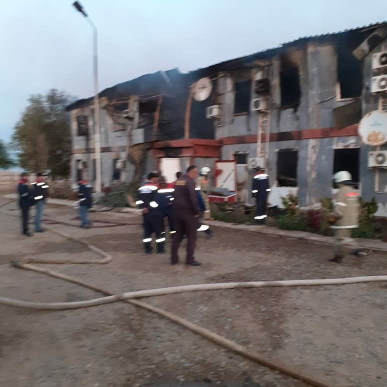 Пожар на месторождении Боранколь. Фото с места происшествия, фото-7