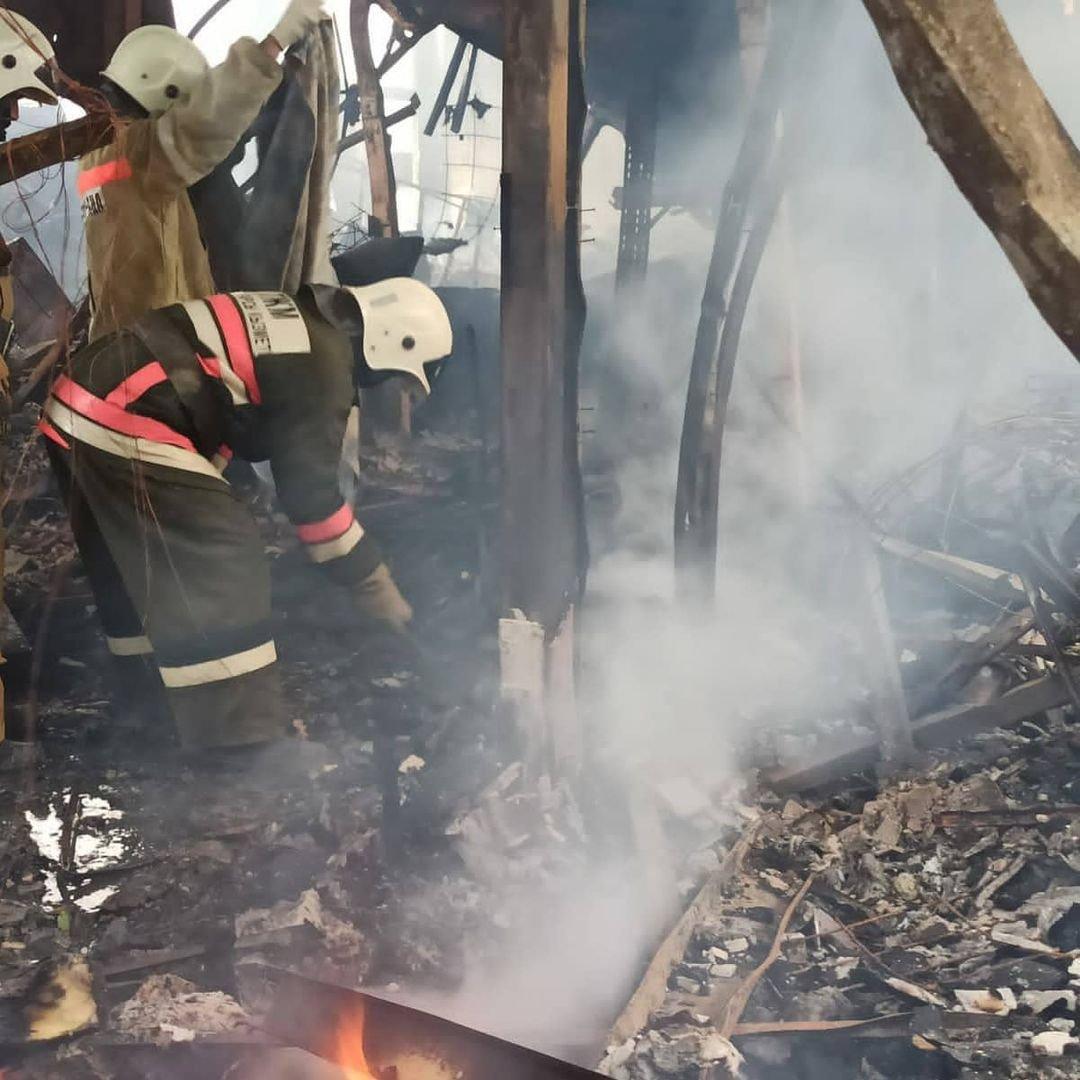 Пожар на месторождении Боранколь. Фото с места происшествия, фото-3