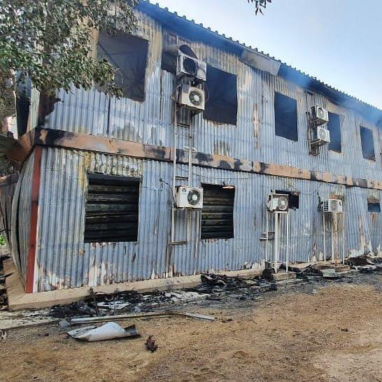 Пожар на месторождении Боранколь. Фото с места происшествия, фото-2