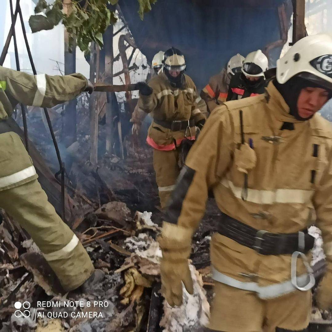 Пожар на месторождении Боранколь. Фото с места происшествия, фото-8