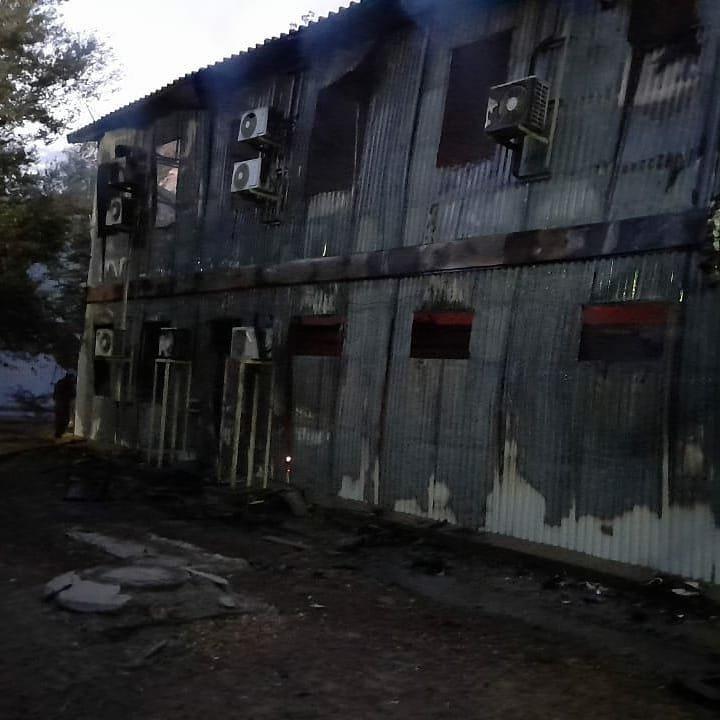 Пожар на месторождении Боранколь. Фото с места происшествия, фото-9