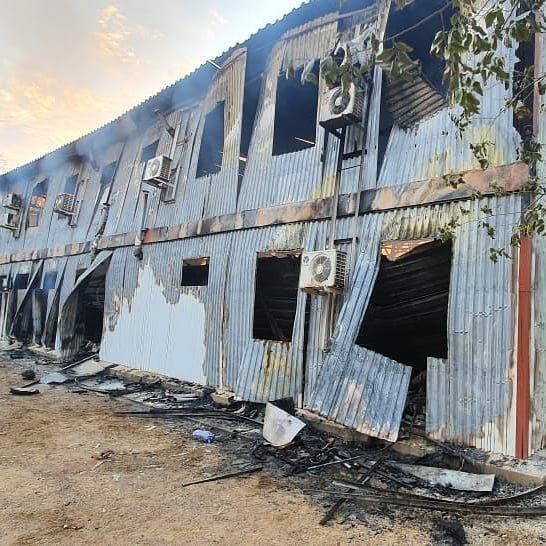 Пожар на месторождении Боранколь. Фото с места происшествия, фото-4
